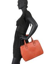 Leather Confort Satchel Hexagona Orange confort 466569-vue-porte
