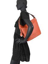 Hobo Bag Confort Leather Hexagona Orange confort 464994-vue-porte