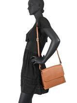 Shoulder Bag Confort Leather Hexagona Brown confort 465022-vue-porte