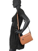 Crossbody Bag Confort Leather Hexagona Brown confort 466744-vue-porte