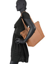 Leather Confort Tote Bag Hexagona Brown confort 466559-vue-porte