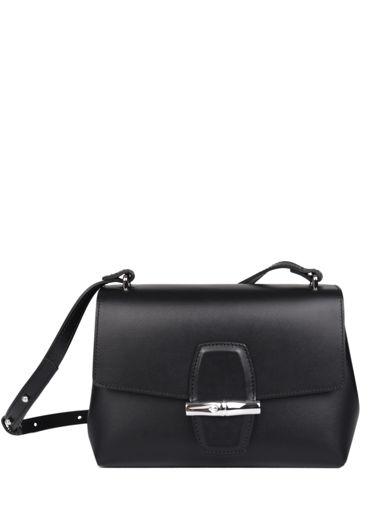 Longchamp Roseau box Messenger bag Black