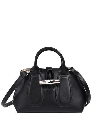 Longchamp Roseau box Sacs porté main Noir