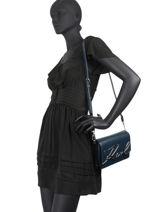 Shoulder Bag K Signature Leather Karl lagerfeld Blue k signature 81KW3057-vue-porte