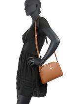 Leather Crossbody Bag City Philos Lancaster Brown city philos 79-vue-porte