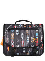 Cartable 2 Compartiments Lily Boys Stones and bones Noir boys B