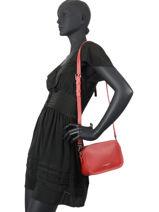Leather Crossbody Bag Foulonné Double Lancaster Red foulonne double 31-vue-porte