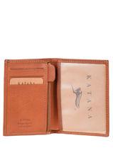 Wallet Leather Katana Gold tampon 253090N-vue-porte