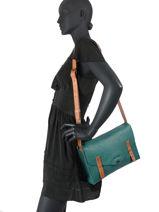 Shoulder Bag Vintage Leather Paul marius Blue vintage INDISPEN-vue-porte