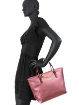 Shopping Bag Maya Lancaster Pink maya 18-vue-porte
