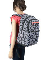 Backpack Here You Go 3 Compartments Roxy Black back to school RJBP4159-vue-porte