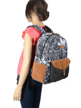Backpack Carribean 1 Compartment Roxy Black back to school RJBP4170-vue-porte