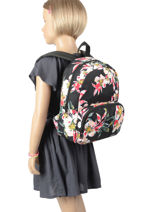 Backpack Mini Roxy Black kids RJBP4152-vue-porte