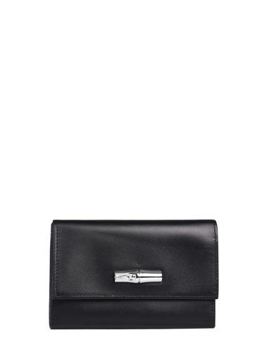 Longchamp Roseau box Wallet Black