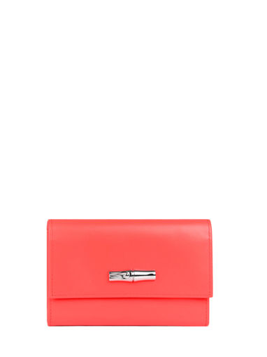 Longchamp Roseau box Wallet Red