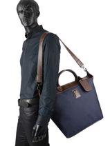 Longchamp Boxford Travel bag Blue-vue-porte