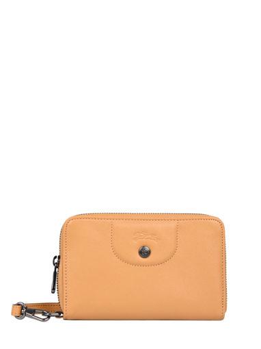 Longchamp Le pliage cuir Portefeuilles Jaune