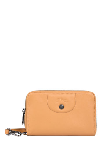 Longchamp Le pliage cuir Portefeuilles Orange