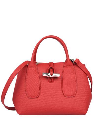 Longchamp Roseau Sacs porté main Rouge