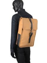 Sac à Dos Business Backpack Rains Marron boston 1220-vue-porte
