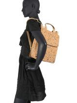 Backpack Coquelicot Woomen coquelicot WCOL02-vue-porte