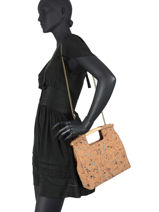 Shoulder Bag Coquelicot Woomen coquelicot WCOL04-vue-porte