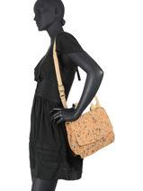 Shoulder Bag Coquelicot Woomen coquelicot WCOL01-vue-porte