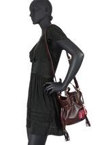 Small Leather Bucket Bag Premier Flirt Python Lancel premier flirt A10528-vue-porte