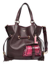Medium Leather Bucket Bag Premier Flirt Python Lancel premier flirt A10529