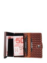 Leather Card Holder Mini Wallet Secrid Orange original MBA-vue-porte