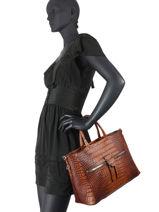 Handbag Marica Leather Gianni chiarini Brown marica BS8212-vue-porte