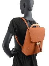 Backpack Iris Woomen Brown iris WIRIS06-vue-porte
