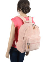 Backpack 1 Compartment Roxy Pink back to school RJBP4176-vue-porte