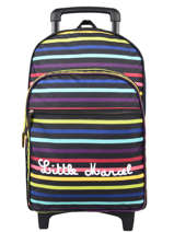 Wheeled Backpack Stripes Little marcel Black school 8870