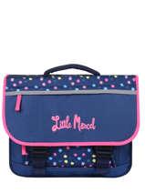 Satchel 2 Compartments Little marcel Blue school 330220