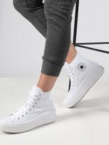 Chuck taylor all star move hi white sneakers-CONVERSE-vue-porte