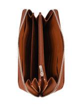 Longchamp Le foulonné Portefeuilles Marron-vue-porte