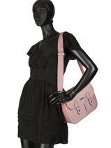 Longchamp Le pliage club Hobo bag Pink-vue-porte