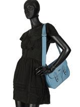 Longchamp Le pliage club Besaces Bleu-vue-porte