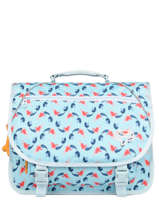 Cartable 2 Compartiments Lily Girls Stones and bones Bleu girls G