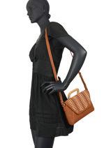 Small Crossbody Bag Lavande Woomen Brown lavande WLAV01-vue-porte