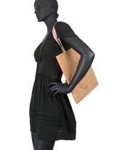 Shoulder Bag Lilas Woomen Beige lilas WLILA02-vue-porte