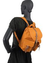 Sac à Dos 1 Compartiment Herschel Orange classics woman 10301-vue-porte