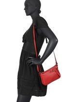 Shoulder Bag Caviar Leather Milano Red caviar G1421N-vue-porte