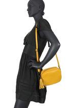 Shoulder Bag  Leather Milano Yellow CA20064N-vue-porte