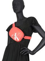 Denim Belt Bag Calvin klein jeans Pink denim K606853-vue-porte