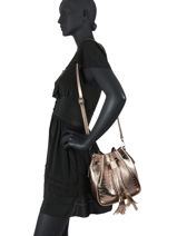 Leather Crossbody Bag Croco Milano Silver CR19114N-vue-porte