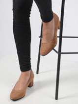 Suede leather pumps-TAMARIS-vue-porte