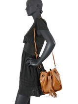 Leather Crossbody Bag Croco Milano CR19114N-vue-porte