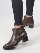 Leather ankle boots in leather-TAMARIS-vue-porte